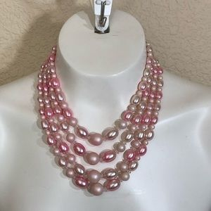 Jewelry - Four strand pink necklace